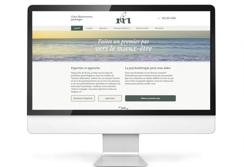 Site Web - Claire Maisonneuve