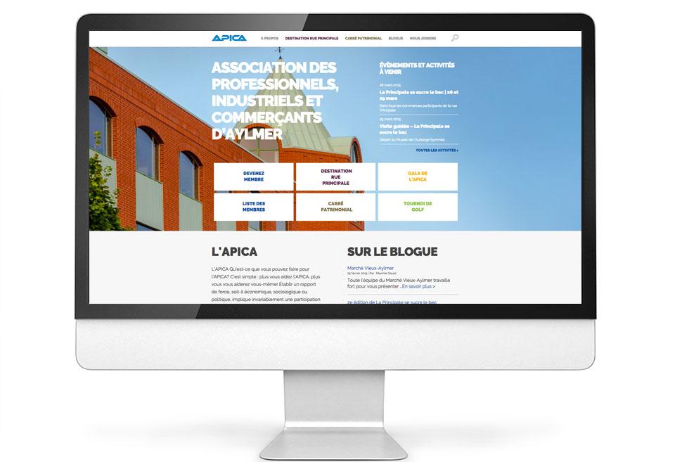 APICA - Site Web - Page d'accueil