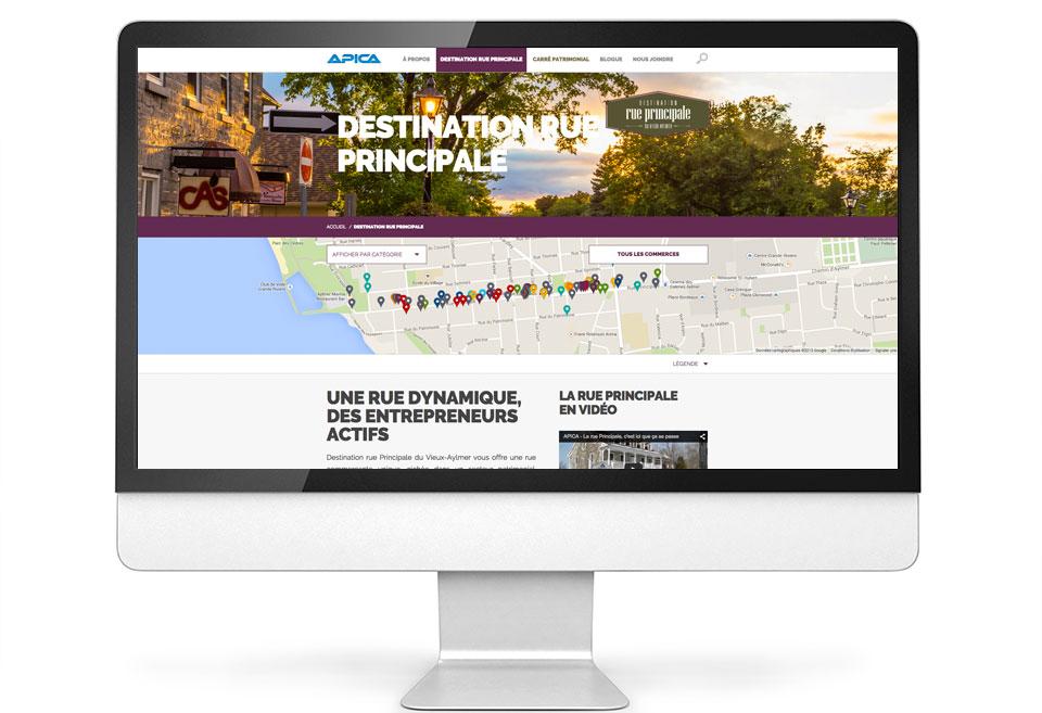 APICA - Site Web - Destination rue Principale